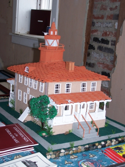 Replica of the Point Lookout Lighthouse, by Barbara Loukota